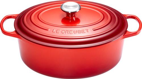 Le Creuset Cocotte Ovale 27 cm Rouge Cerise Main Image