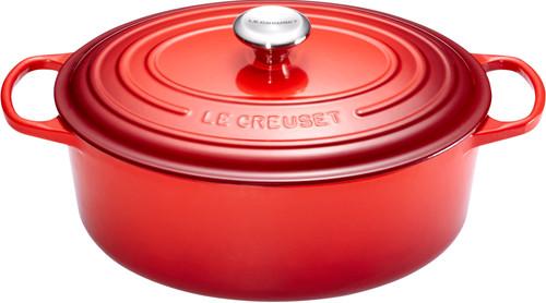 Le Creuset Ovale Stoof-/Braadpan 31 cm Kersenrood Main Image