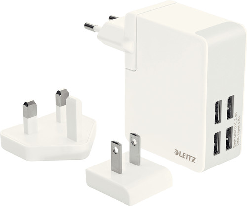 Leitz Travel Charger 4X USB Wit Main Image
