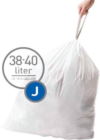 Simplehuman Waste bags Code J - 38-40 Liter (60 pieces) Main Image