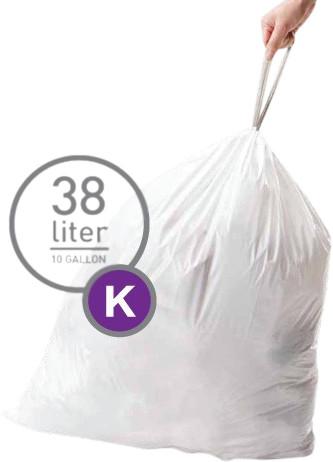 Simplehuman Waste bags Code K - 38 Liter (60 pieces) Main Image