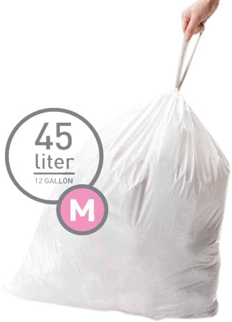 Simplehuman Waste bags Code M - 45 Liter (60 pieces) Main Image