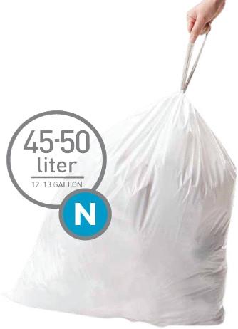 Simplehuman Waste bags Code N - 45-50 Liter (60 pieces) Main Image