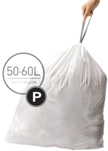 Simplehuman Waste bags Code P - 50-60 Liter (60 pieces) Main Image