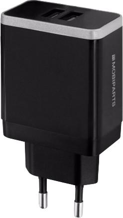 Mobiparts Charger Adapter Dual USB 4.8A Black Main Image
