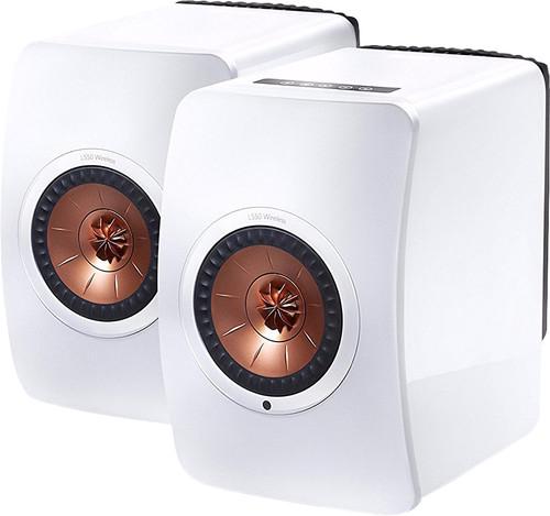 KEF LS50 Sans fil Blanc (par deux) Main Image