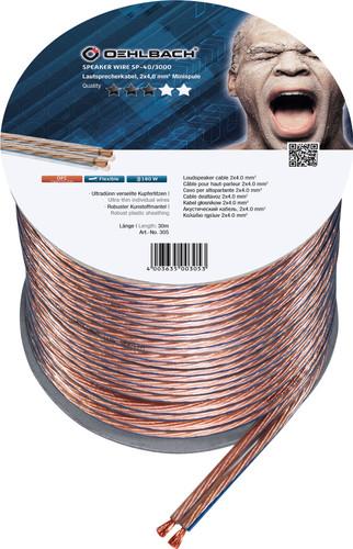 Oehlbach Loudspeaker cable (2 x 4 mm) 30 meters Main Image