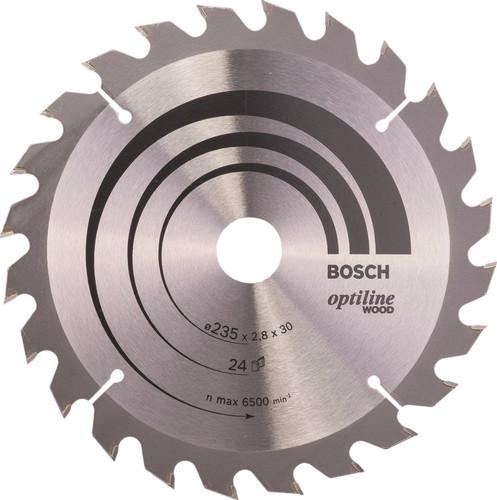 Bosch Lame de Scie Circulaire Optiline Wood 235 x 2,8 x 30 24T Main Image