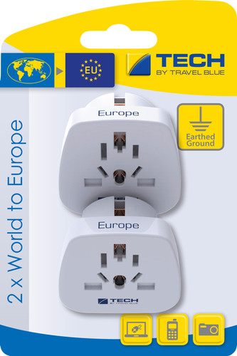 Travel Blue 2 x Wereld Adapter - Europa Main Image