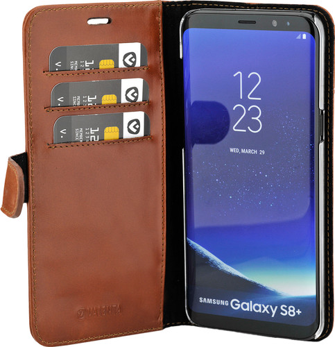 Valenta Classic Luxury Samsung Galaxy S8 Plus Book Case Brown Main Image