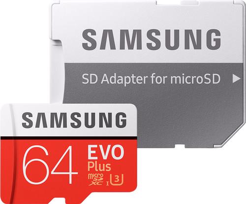 Samsung microSDXC EVO+ 64GB 100MB/s CL 10 + SD adapter Main Image