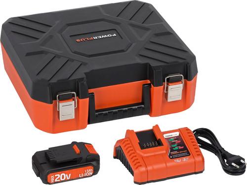 Powerplus Dual Power Acculader + Accu 20V 1,5 Ah Li-Ion Main Image