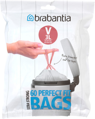 Brabantia Garbage bags Code V - 3 Liter (60 pieces) Main Image