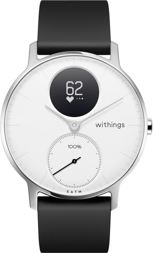 Withings Steel HR Silver / White 36mm Main Image