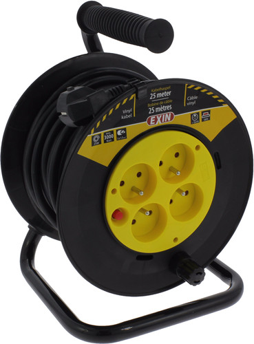 Exin cable reel 25m 3x1, 5mm2 Pin earth Main Image