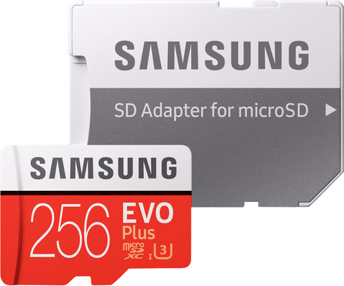 Samsung MicroSDXC EVO+ 256GB 100MB/s CL10 + SD adapter Main Image