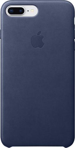 Apple iPhone 7 Plus/8 Plus Coque Arrière en Cuir Bleu Main Image