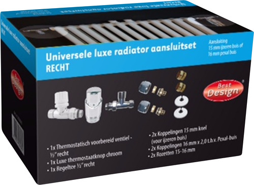 Best Design Universal Luxury Radiator Connection Set Straight Main Image