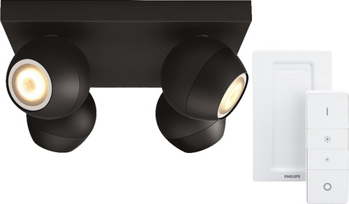 Philips Hue Buckram 4-Spot Noir à Variateur Main Image