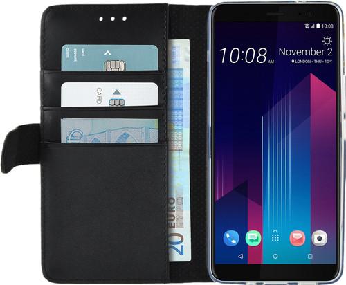 Azuri Étui Portefeuille magnétique HTC U11 Plus Noir Main Image