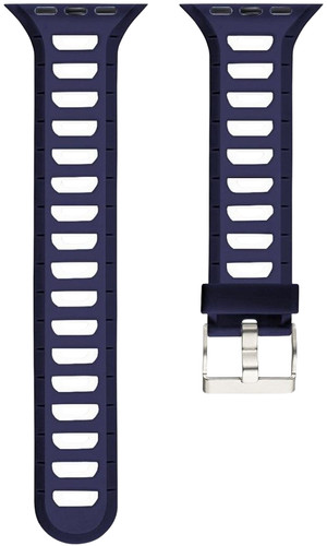 Just in Case Soft Strap for Apple Watch 38 / 40mm Rubber Strap Blue / White Main Image