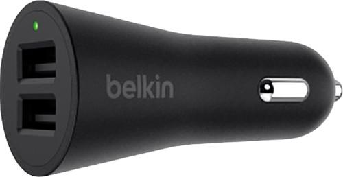 Belkin Chargeur de voiture Dual USB 24W Noir Main Image