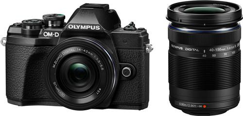 Olympus OM-D E-M10 Mark III Body Black + 14-42mm EZ Black + 40-150mm Black Main Image