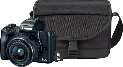 Kit de démarrage - Canon EOS M50 Noir + 15-45 mm IS STM + sacoche + carte mémoire + chiffo Main Image