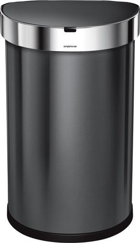 Simplehuman Liner Pocket Poubelle à Capteur Demi-lune 45 Litres Anthracite Main Image