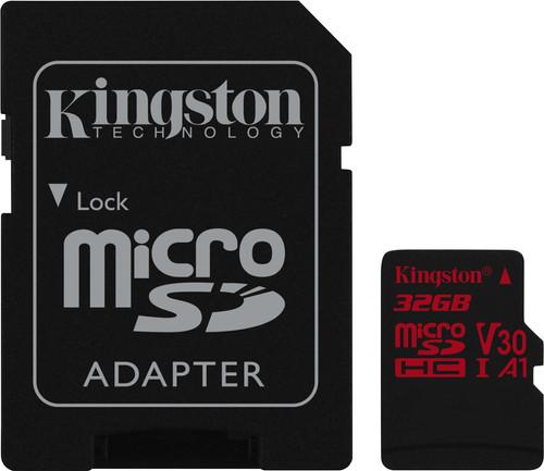 Kingston microSDHC Canvas React 32GB 100 MB/s + SD Adapter Main Image