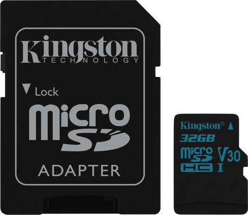 Kingston microSDHC Canvas Go! 32GB 90MB/s + SD Adapter Main Image