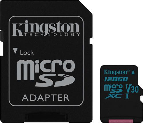 Kingston microSDXC Canvas Go! 128GB 90MB/s + SD Adapter Main Image