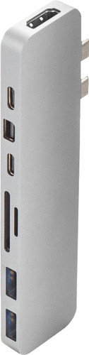 Station d'accueil Pro USB Type-C 8-en-2 Argent Hyper Main Image