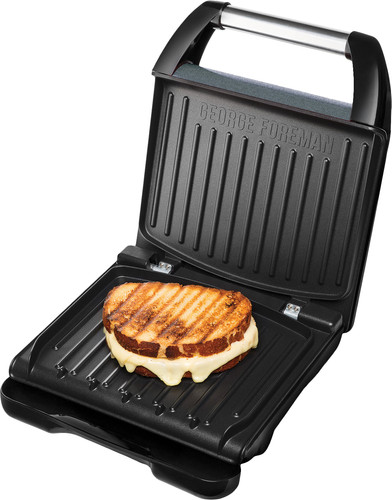 George Foreman Steel Grill Family Gris Main Image