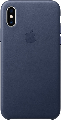 Apple iPhone Xs Max Back cover en Cuir Bleu nuit Main Image