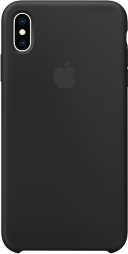 Apple iPhone Xs Max Silicone Back Cover Black Main Image