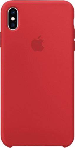 Apple iPhone Xs Max Coque arrière en Silicone RED Main Image
