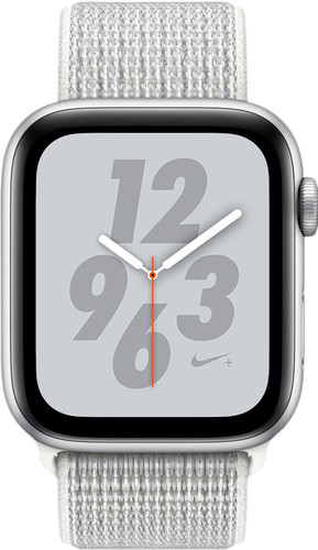 Apple Watch Series 4 Bracelet sportif 44 mm Nike+ Argent Aluminium/Nylon Main Image