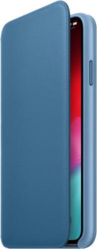 Apple iPhone Xs Max Coque à rabat folio en Cuir Bleu Cape Cod Main Image