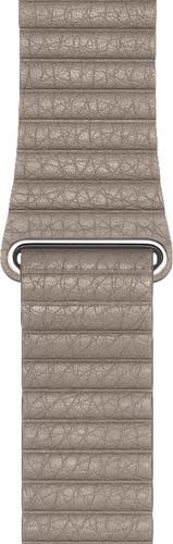Apple Watch 44mm Leren Horlogeband Steengrijs Medium Main Image