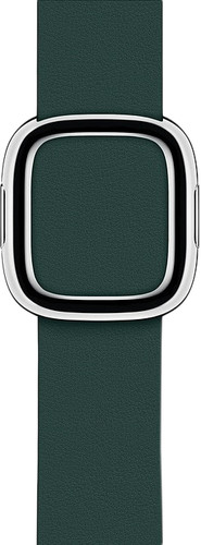 Apple Watch 38/40mm Modern Leather Watch Strap Forest Green - Small Main Image