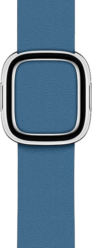 Apple Watch 38/40mm Modern Leather Watch Strap Cape Cod Blue - Small Main Image