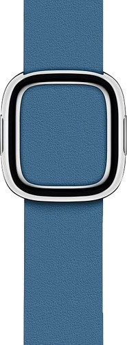 Apple Watch 38/40 mm Modern Leren Horlogeband Cape Cod Blauw - Large Main Image
