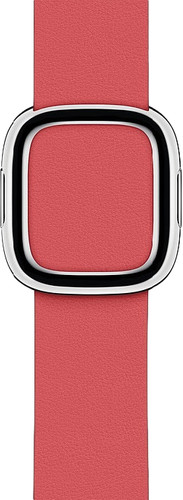 Apple Watch 38/40mm Modern Leather Watch Strap Peony Pink - Large Main Image