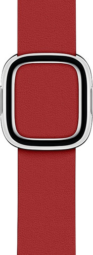 Apple Watch 38/40mm Modern Leather Watch Strap RED - Small Main Image