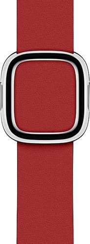 Apple Watch 38/40mm Modern Leather Watch Strap RED - Medium Main Image