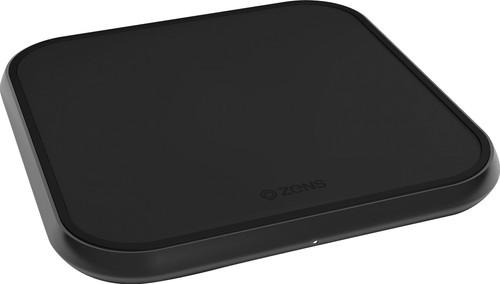 ZENS Single Chargeur sans fil en aluminium 10 W Noir Main Image