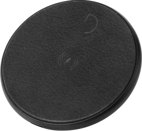 Decoded Chargeur à induction sans fil Cuir Noir Main Image