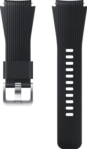 Samsung Galaxy Watch 46mm / Gear S3 Silicone Watchband Black Main Image