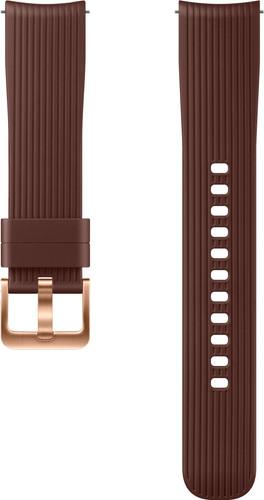 Samsung Galaxy Watch 42mm/Gear Sport Silicone Watch Strap Brown Main Image